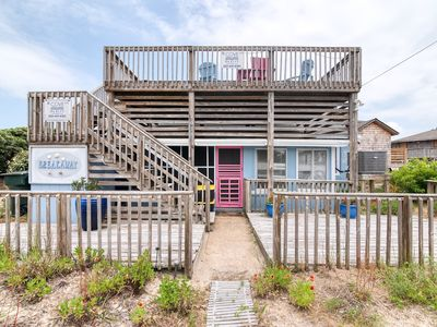 Photo for 415 - Prime Nags Head Semi-Ocean Front Home with Massive Roof-Top Deck!