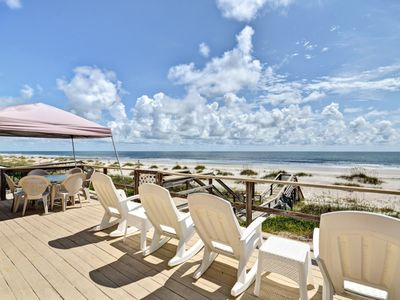 Photo for 4 Bed/2 Bath Oceanfront home sleeps 8.  Enjoy Atlantic Ocean from large oceanfront deck.
