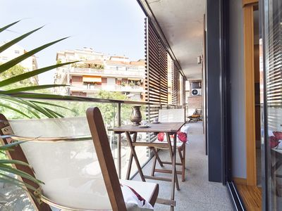 Photo for Apartment with Terrace 3 bedrooms 6 pax in the center in high area with parking - Free WiFi