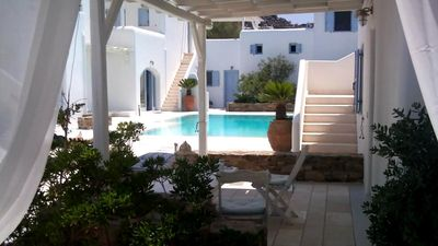 Photo for BLUE DAISY House in Sandy Ornos Beach, Mykonos Island, for all ages..
