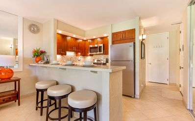Photo for Papakea E 108 BEAUTIFULLY RENOVATED! GROUND FLOOR & steps to BEACH, POOL & BBQ