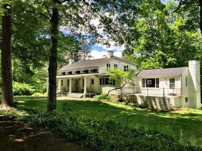 Photo for Beautiful Farm House, 30 acres private estate with pool