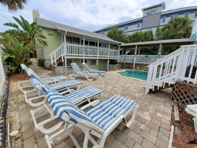 Photo for Oceanfront Cocoa Beach Cottage - Pool & Private Beach Access, Sleeps 10