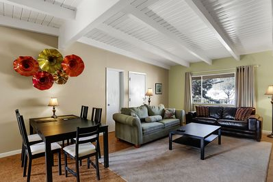 Dramatic, vaulted ceilings