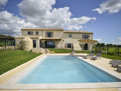 Photo for renovated farmhouse, private pool, Provence, Cèze Valley, 30km Uzes and Avignon
