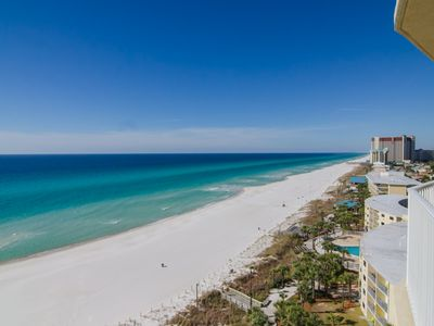 Photo for Your Private Balcony Overlooking the Area's Largest Private Beach Awaits
