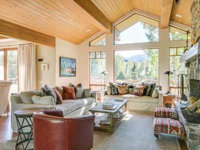 Photo for Light-filled custom ski home with contemporary art, mountain views and use of the Elkhorn Pool and T