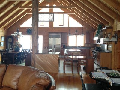 Photo for Newly Listed SUMMER - Private Lux Log Home,  Ideal For Gatherings