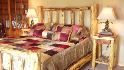 The King Log Bed in the Master Bedroom