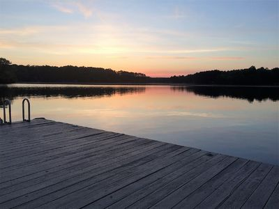 Photo for Gorgeous views on large cove just off Main Lake. Pets OK.