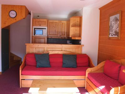 Photo for Surface area : about 55 m². 3rd floor. Orientation : East. Living room with pull-out sofa