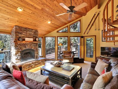 Photo for The perfect mountain retreat nestled in the woods, just a few blocks from Main!