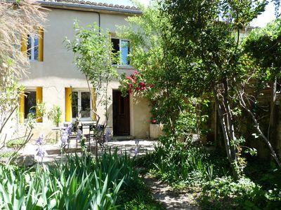 Photo for Cottage with pool in a quiet hamlet in the heart of orchards: authentic stay!