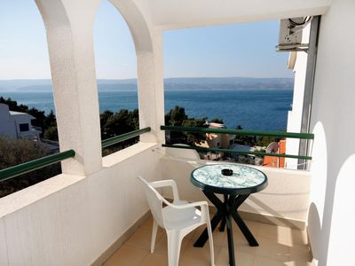 Photo for Studio flat with terrace and sea view Balića Rat, Omiš (AS-4868-a)
