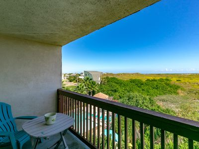 Photo for 1BR Efficiency Gulf View in Port Aransas - Community Pool - Walk to Beach