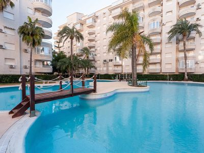 Photo for PARAÍSO - Apartment with shared pool in Playa Gandia.