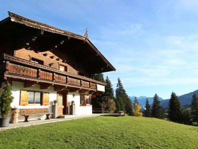 Photo for Lovely apartment with great views over the Tyrolean mountain landscape