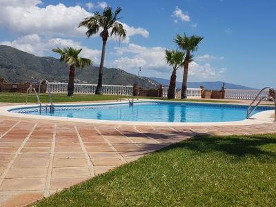 Photo for Superb property with sea and mountain views, 500 meters from the beach