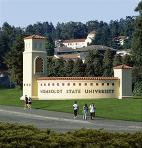 Ten minute drive South to Humboldt State University in Arcata