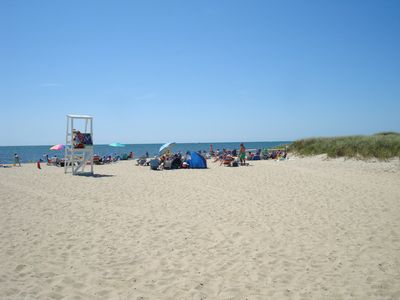 South Village Beach & lifeguard approx. 125 meters walk w/o crossing the street!