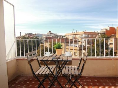 Photo for Sagrera Quiet 4-1 apartment in La Sagrera with WiFi, air conditioning, balcony & lift.