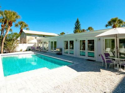 Photo for Full duplex w/ shared heated pool and fenced backyard - dogs welcome!