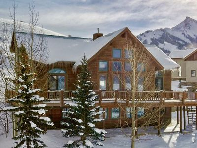 Photo for Modern Rustic Lodge - Ski In/Ski Out, Hot tub, 6 bedrooms, Gorgeous Views
