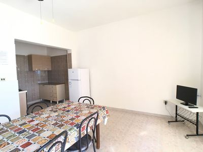 Photo for Side sea view apartment located in Torre Mozza, on the first floor.