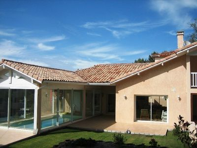 Photo for BRIGHT VILLA - POOL INDOOR WALKING -Access SEA, GOLF, SHOPS (400M)