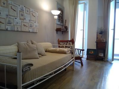 Photo for Centrally located two-rooms apartment, 100 mt from sea. Parking. Wi-fi.
