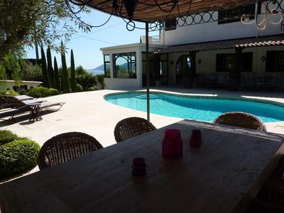 Photo for Fantastic Rivera property with panoramic view, just above Cannes.