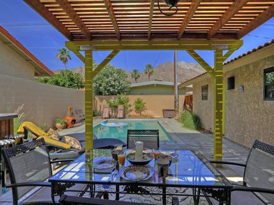 Photo for Pool House, High up in the Cove of La Quinta Mountain View Available for Oct 7-9