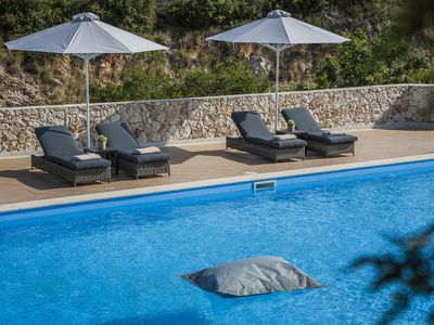 Photo for Elegant 2 bedroom apartment with private 107m2 pool in Skala