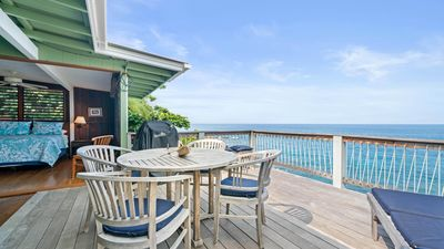 Photo for Spacious oceanfront 3 BR/3 BA home with large balcony, walking distance to beach, Makana Kai