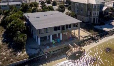 Arial view of home located on Santa Rosa Sound