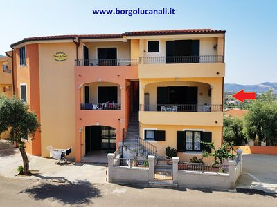 Photo for Borgo Lu Canali - First floor - Very central two-room apartment with covered veranda