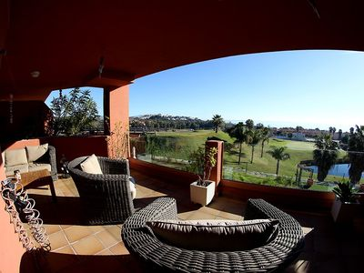 Photo for Patio de Doña two bedroom / two bathroom apartment with sea views