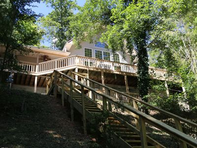 Photo for Tennessee Treasure- Lakefront Big Crk, dock, 4 bd + 3 queen loft, 3 wooded acres