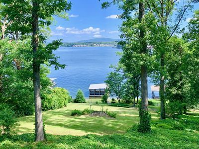 Photo for Spectacular Views! 104' of Lake Hamilton Waterfront Dock/Cable/Wifi