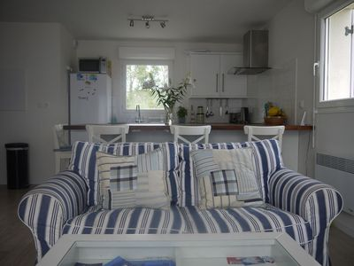 Photo for 2 bedroom apartment on the ground floor 200m from the nearest beach