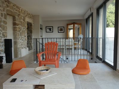 Photo for 6 kms to beach, stone house of 1850, private garden, quiet, away from crowd