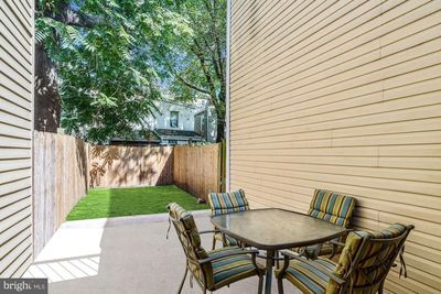 Patio is middle level outside the living room. Entertain or simply relax!