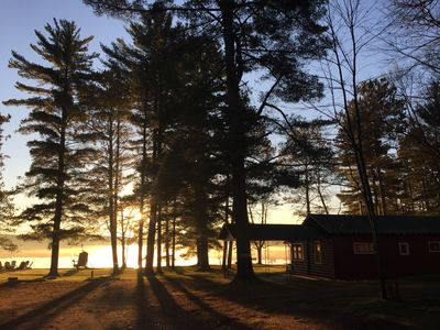 Photo for Cozy Cabin with Amazing Lake Views, Covered Dock, + Campfire Pit