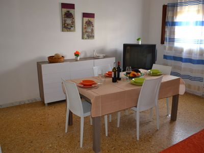 Photo for Charming Apartment Vicino alla Spiaggia with Ventilators & Terrace; Parking Available, Pets Allowed