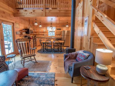Photo for Cabin by the river in the heart of the White Mountains - Book your adventure!