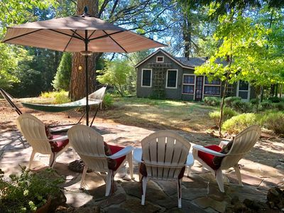 Photo for Cottage offers a comfortable and peaceful setting, perfect for relaxing.