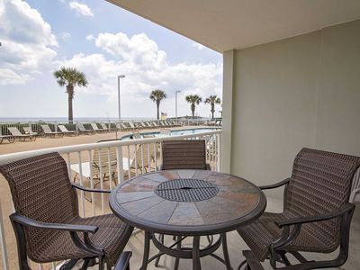 Photo for Ground Floor ~ Gulf Front ~ Tradewinds 001 ~ Great Loaction/Amenties ~ Sleeps 6!
