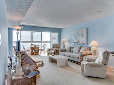 Photo for Waterfront condo w/ shared pool, full kitchen, beach access - snowbird-friendly