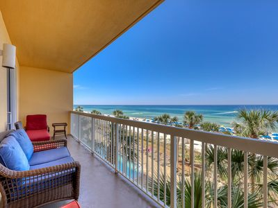 Photo for Incredible gulf view home with private balcony at Calypso Resort