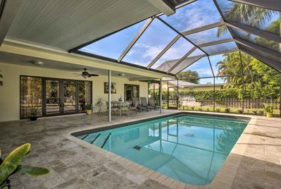 This property boasts a private, screened-in lanai and pool!